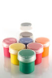 Paint in jars Royalty Free Stock Images