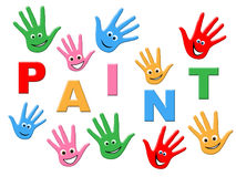 Paint Kids Means Painting Colorful And Children Royalty Free Stock Photo