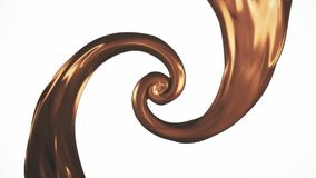 Caramel paint leak surreal spiral slow motion animation background new quality motion graphics retro vintage style cool. Paint leak surreal spiral slow motion royalty free illustration
