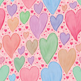 Paint love watercolor pastel seamless pattern Stock Photography