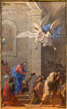 Paint from main altar La Comunione degli Apostoli  Royalty Free Stock Image