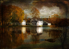 Paint mansion.Texture conceptual image. Royalty Free Stock Photography