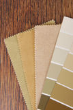 Paint and material color choosing for interior Stock Photos