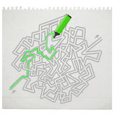 Paint maze Royalty Free Stock Image