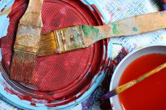 Paint Mess Stock Image