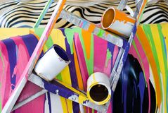 Paint Mess Stock Photo