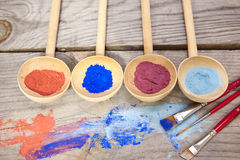 Paint with mineral powder Stock Photos