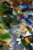 Paint mixture. Detail of a paint mixture Royalty Free Stock Photography