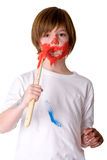Paint My Face Red Royalty Free Stock Images