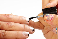 Paint the nails Royalty Free Stock Image