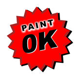 Paint ok decal Stock Photo