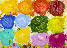 Paint On Palette Royalty Free Stock Image