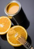 Paint and Orange Stock Photography