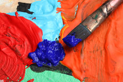 Paint palette Royalty Free Stock Photography