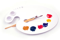 Paint palette Royalty Free Stock Images