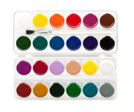 Paint palette with brush Royalty Free Stock Photos
