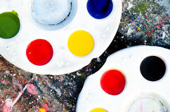 Paint palette. Stock Photography