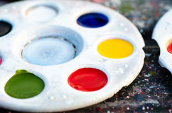 Paint palette. Royalty Free Stock Photo