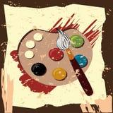 Paint palette Stock Photos