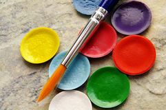 Paint pallet Royalty Free Stock Images