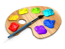 Paint pallete Royalty Free Stock Photography