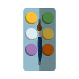Paint pallete isolated icon. Vector illustration design Stock Image