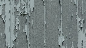 Paint Pealing Siding Tin Vertical Pan Wide stock footage