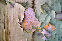 Paint Peeled & Cracked Wall Royalty Free Stock Images