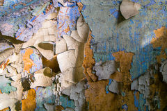 Paint Peeled & Cracked Wall Royalty Free Stock Photo