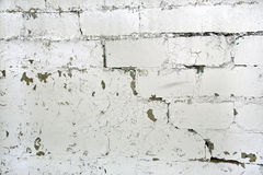 Paint peeling brisk wall Royalty Free Stock Photos