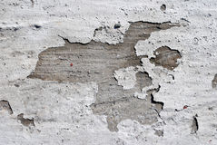 Paint peeling on concrete wall Stock Photography
