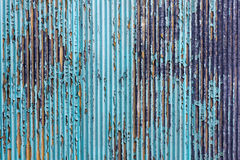 Paint peeling on old tin Stock Images