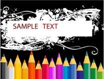 Paint pencils Stock Photography