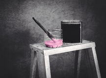 Paint pink color Stock Photo