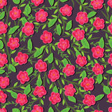 Paint pink flower seamless pattern Royalty Free Stock Photography
