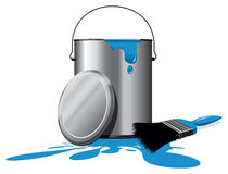 Paint pot Stock Photography