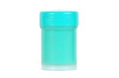 Paint pot. Close up shot of an aqua paint pot royalty free stock images