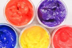 Paint pots Royalty Free Stock Photo