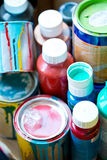 Paint pots, renovation Stock Image