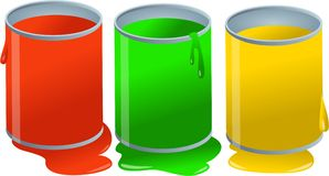 Paint Pots Stock Photos