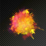 Paint powder color explosion on transparent background royalty free illustration