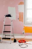 Paint Prep. Renovating the guest bedroom Royalty Free Stock Photography