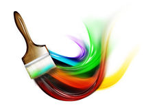 Paint a rainbow Stock Photo