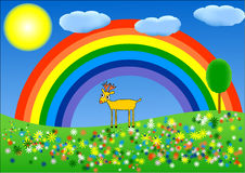 Paint rainbow Royalty Free Stock Image