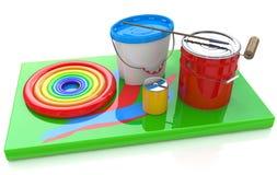 Paint and rainbow Stock Photos