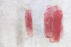 Paint red color on the wall Royalty Free Stock Photo