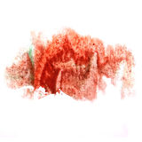 Paint red, green splash ink stain watercolour blob Royalty Free Stock Photo