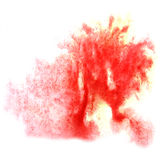Paint red splash ink stain watercolour blob spot Stock Photo