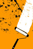 Paint roll and stains (Illustration). A paint roll and stains illustration royalty free illustration