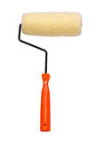 Paint roller. Orange color handle Royalty Free Stock Photo
